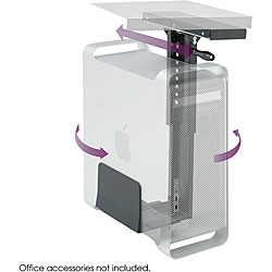 Safco Swivel-Mount Under Desk CPU Holder