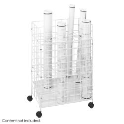 Safco Tiered 24 Compartment Wire Roll File - Thumbnail 1