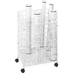 Safco Tiered 24 Compartment Wire Roll File - Thumbnail 0