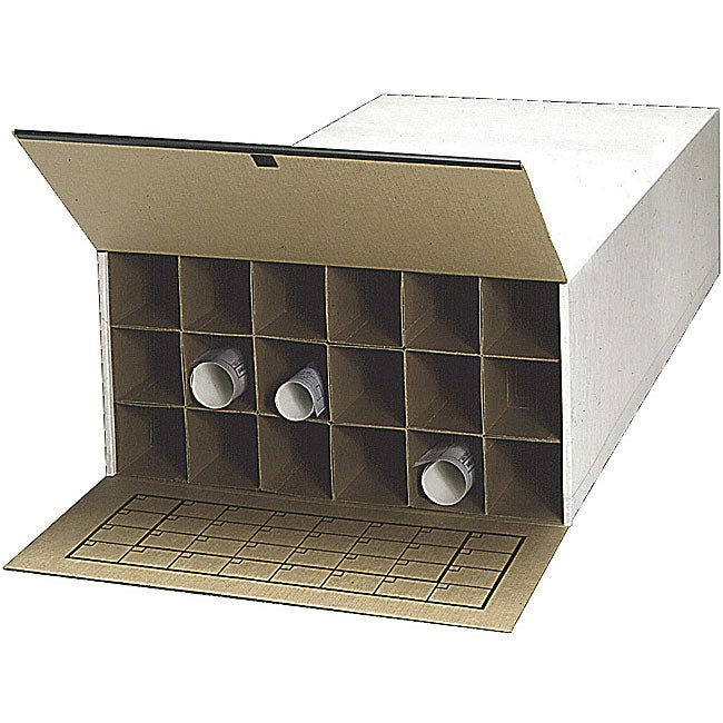 Safco 18 Compartment Roll File (Pack of 2)