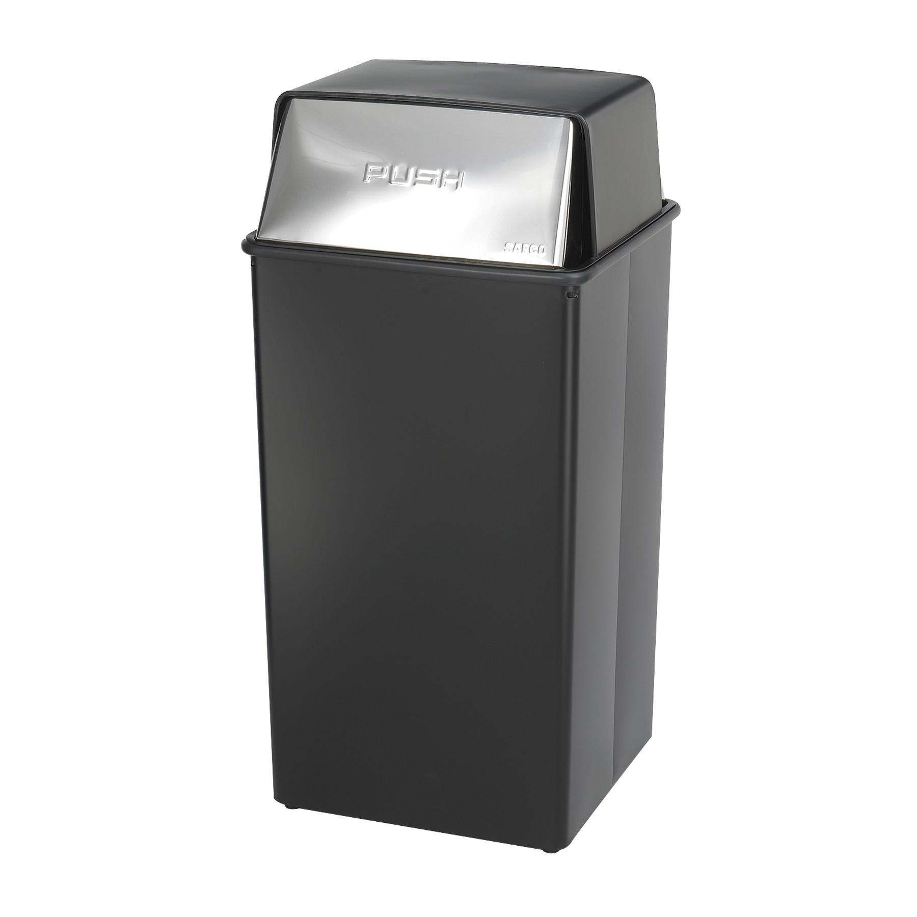 Safco Reflections Push Top Trash Receptacle