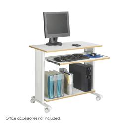 "Safco Muv 35""W Fixed Height Computer Workstation Desk with Keyboard Shelf"