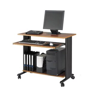 """Safco Muv 35""""W Fixed Height Computer Workstation Desk with Keyboard Shelf"""