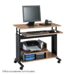 Safco Muv Mini Tower Adjustable Height Computer Workstation Desk with Keyboard Shelf
