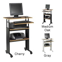 Safco Muv Stand-Up Adjustable Height Computer Workstation Desk with Keyboard Shelf