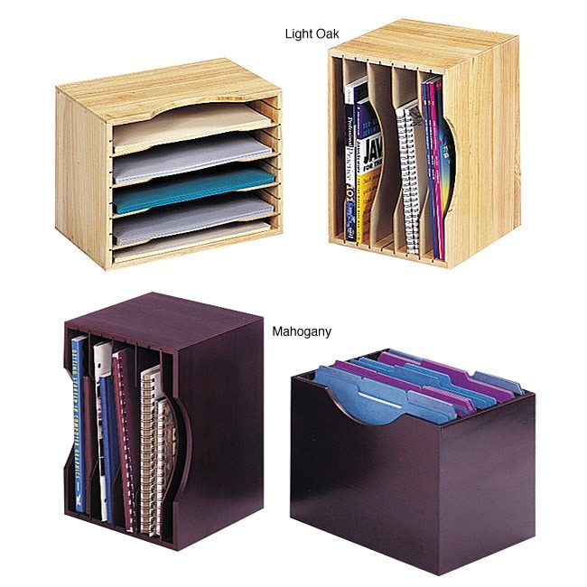 Safco Solid Wood Stackable Organizer