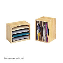 Safco Solid Wood Stackable Organizer - Thumbnail 2