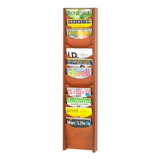 Safco Wood 12-pocket Literature Rack