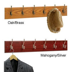 Safco 6-hook Wood Wall Rack (Case of 6)