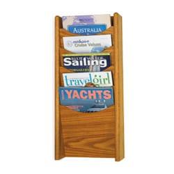 Safco 5-pocket Wood Magazine Rack