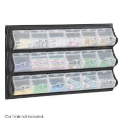 Plastic Safco Clear 18-pocket Compartment Panel Craft Storage Bin