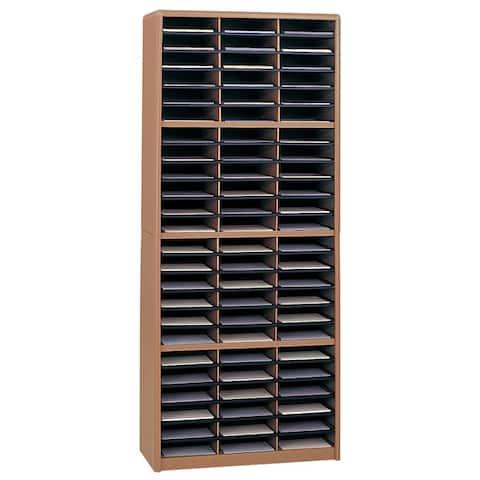 Safco Value Sorter 72 Compartment,Lit. Org., Black-BL, Gray-GR, Medium Oak-MO, Sand-SA