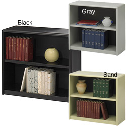 Safco Steel 2-shelf Bookcase - Thumbnail 0
