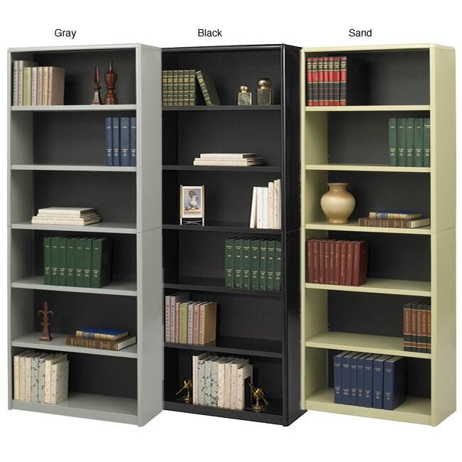 Safco Value Mate Steel 6-shelf Bookcase