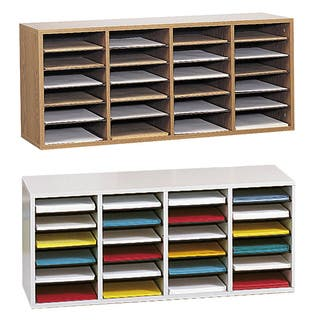 Safco Adjustable Wood Letter-size 24-compartment Literature Sorter|https://ak1.ostkcdn.com/images/products/4656974/P12581036.jpg?impolicy=medium