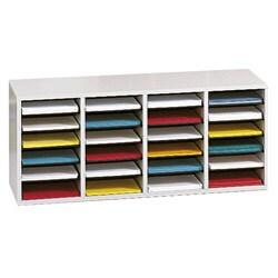 Safco Adjustable Wood Letter-size 24-compartment Literature Sorter