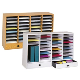 Safco 36 Compartment Laminate Finish Literature Organizer