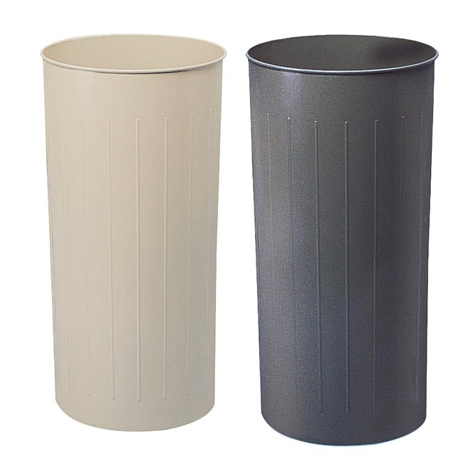 Safco Tall Round Wastebasket Pack Of 3 Free Shipping