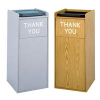 Safco Wood Tray Top Waste Receptacle