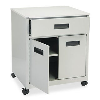 Safco Grey Machine Stand w/ Drawer