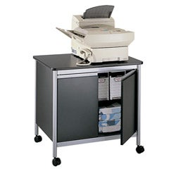 Safco Deluxe Machine Stand with Double Door Storage