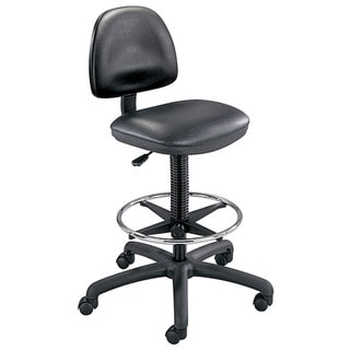 Safco Black Precision Vinyl Drafting Chair/ Foot Ring