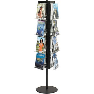 Safco Steel Black Five-pound Aluminum Rotary Literature Display