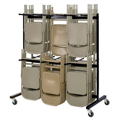 Safco Black Two-tier Steel Folding Chair Cart (Stores up to 84 Chairs)