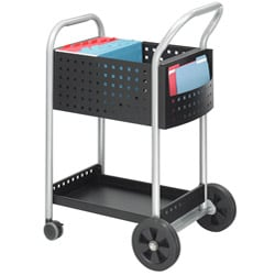 Safco Black 'W' Scoot 20-inch Mail Cart