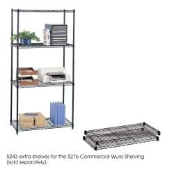 Safco Black Extra Wire 18 x 36-inch Shelves (Pack of 2)