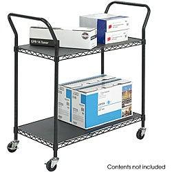 Safco 2-shelf Wire Utility Cart