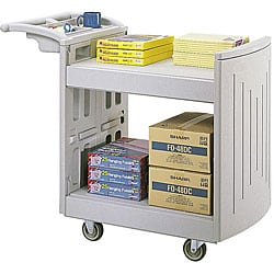 Safco 2-Shelf Molded Convertible Utility Cart