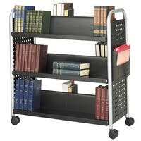 Safco Scoot Double Sided 6-shelf Book Cart