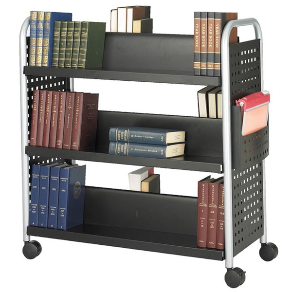 Safco Scoot Double Sided 6-shelf Book Cart. Opens flyout.