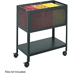 Safco Mesh Tub Open Top Filing Cart