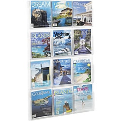Safco Reveal 12-magazine Clear Display