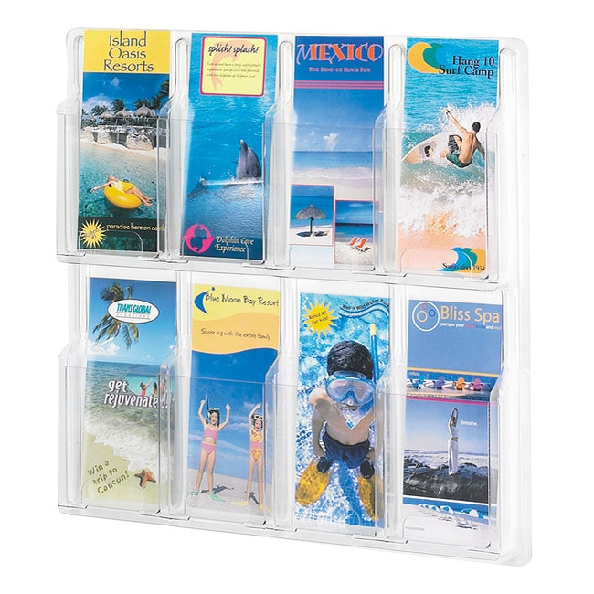 Safco Reveal 8 Pamphlet Clear Display
