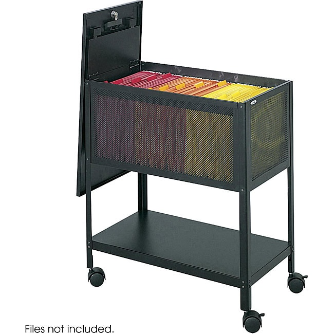 rolling office cart safco mesh tub lock top file cart free shipping today 25634