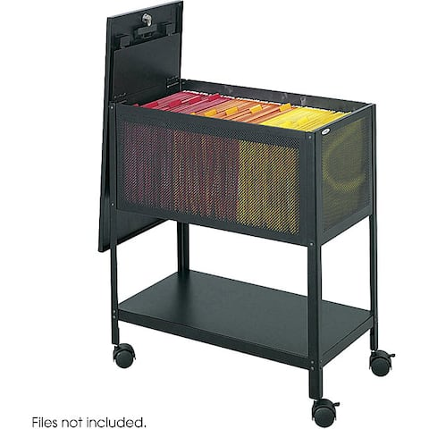 Safco Mesh Tub Lock Top File Cart