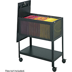 Safco Mesh Tub Lock Top File Cart