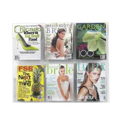 Safco Clear2c 6 Magazine Clear Literature Display