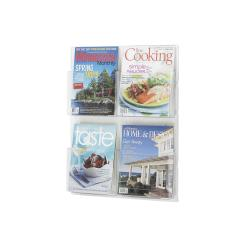 Safco Wall-mounted Clear Plastic Magazine Display with Four Pockets