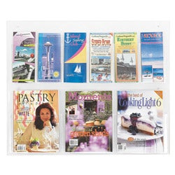 Safco Clear2c 3 Magazine, and 6 Pamphlet Clear Literature Display