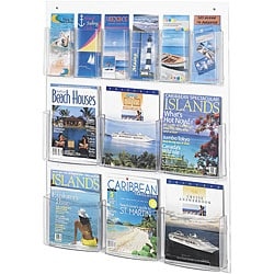 Safco Clear2c 6-magazine and 6-pamphlet Display