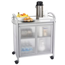 Safco Silver-colored Impromptu Refreshment Cart with Gray Laminate Top