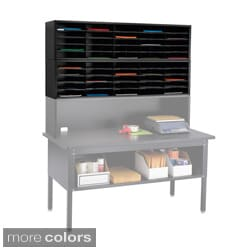 Safco E Z Sort Gray Solid Steel Mail Sorter With Adjustable Shelves