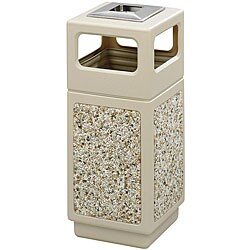 Safco Canmeleon 15 gal. Ash Urn and Side Open Aggregate Panel Waste Receptacle