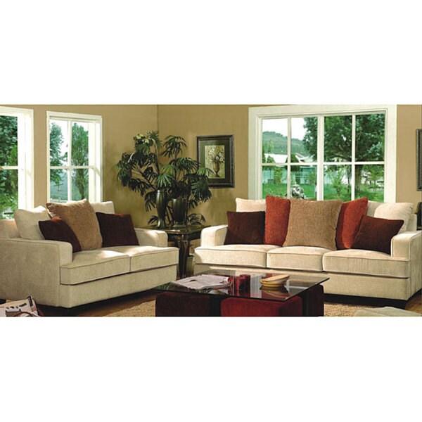 Furniture Of America Caridee 2 Piece Chenille Sofa Set
