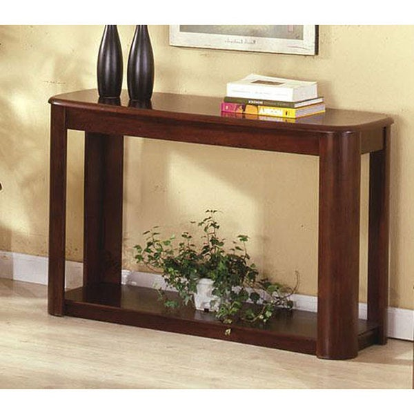 Furniture of America Kollin Dark Cherry Sofa Table