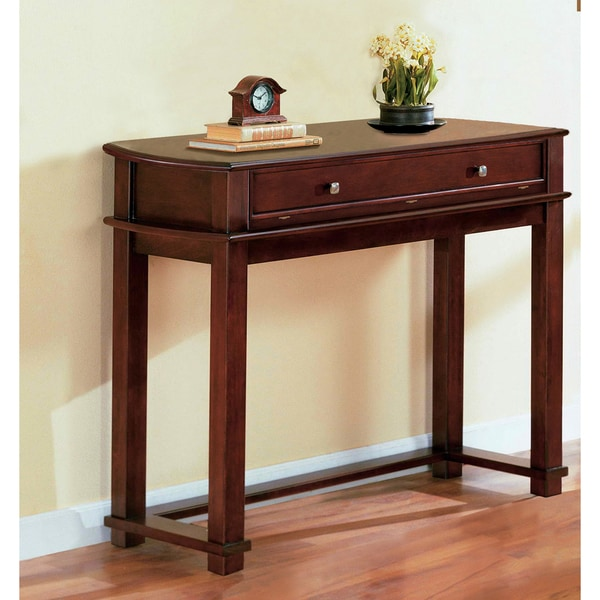 Furniture of America Flip-top Cherry Veneer Sofa Table